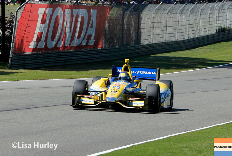 April 26: Marco Andretti during qualifying for the Honda Indy Grand Prix of Alabama