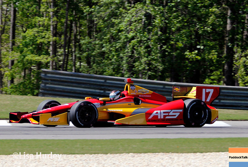 April 26: Sebastian Saavedra during qualifying for the Honda Indy Grand Prix of Alabama