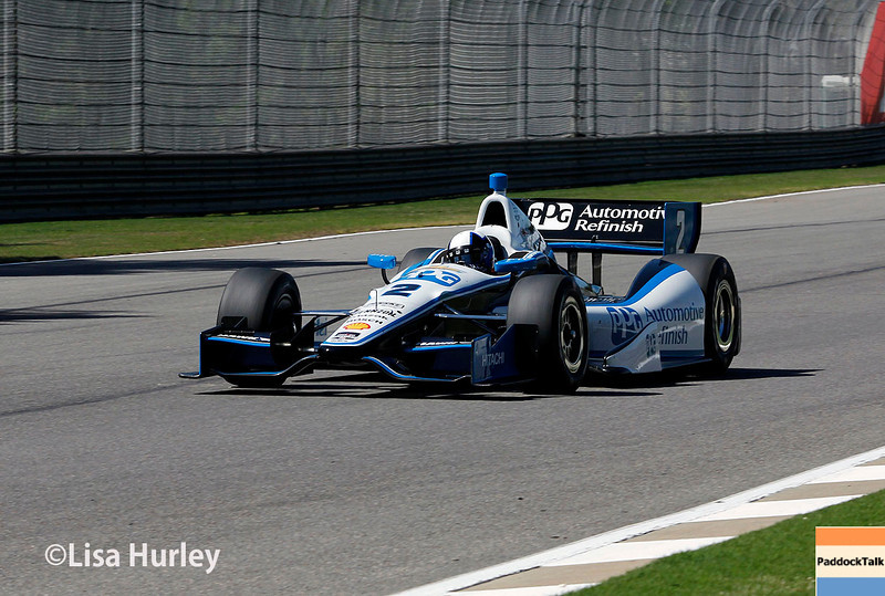 April 26: Juan Montoya during qualifying for the Honda Indy Grand Prix of Alabama