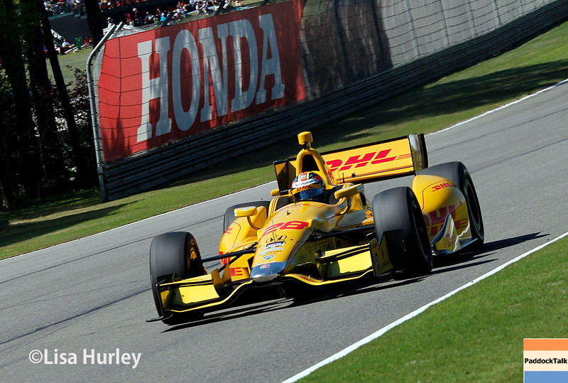 April 26: Ryan Hunter-Reay during qualifying for the Honda Indy Grand Prix of Alabama