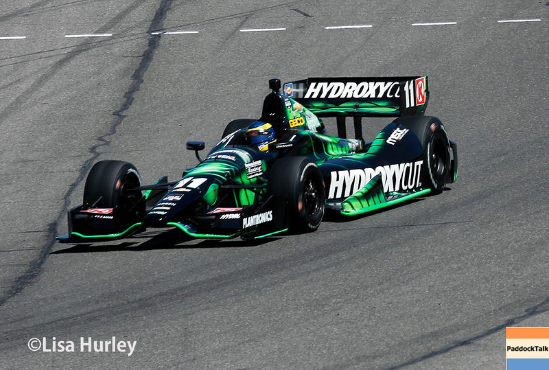 April 26: Sebastien Bourdaisduring qualifying for the Honda Indy Grand Prix of Alabama