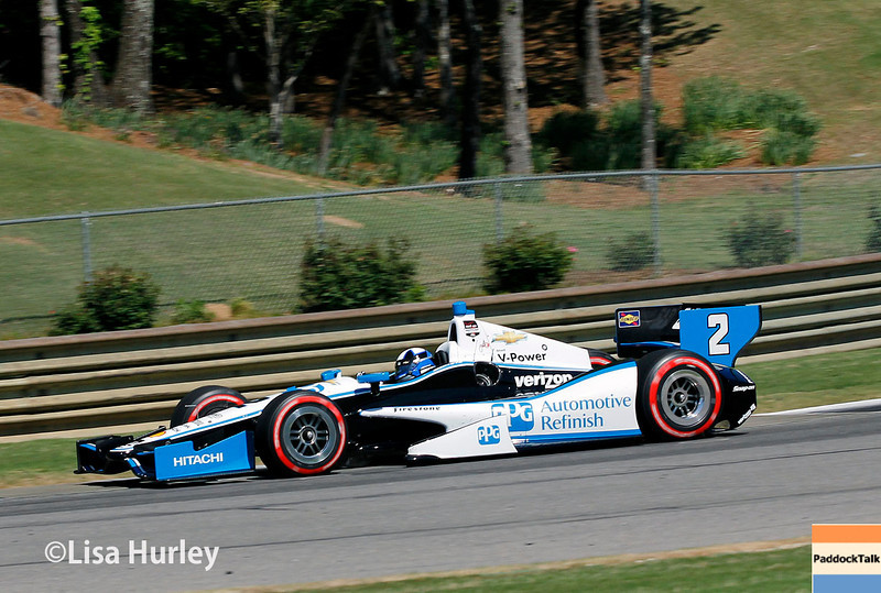 April 26: Juan Montoya during qualifying for the Honda Indy Grand Prix of Alabama