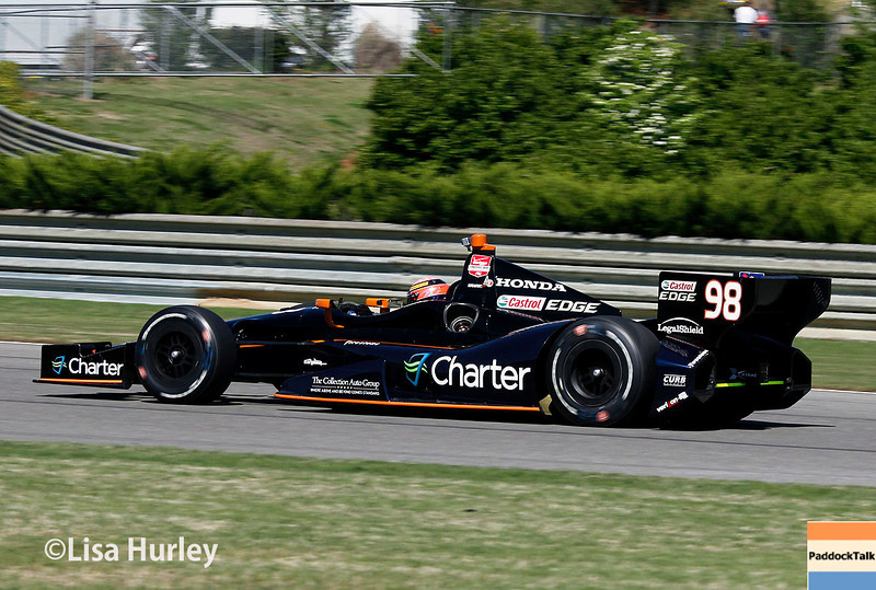 April 26: Jack Hawksworth during qualifying for the Honda Indy Grand Prix of Alabama