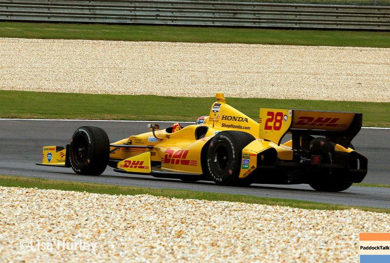 April 27: Ryan Hunter-Reay during the Honda Indy Grand Prix of Alabama
