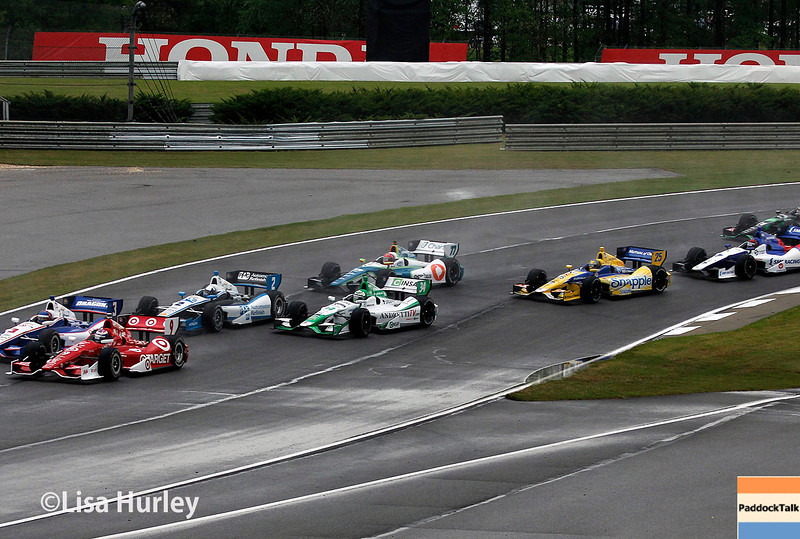 April 27: Track action during the Honda Indy Grand Prix of Alabama