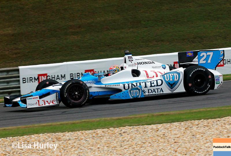 April 27: James Hinchcliffe during the Honda Indy Grand Prix of Alabama