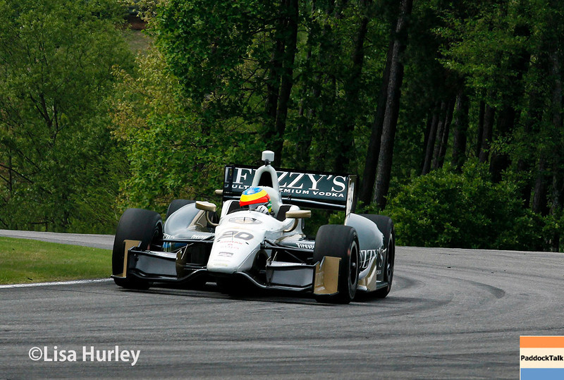 April 27: Mike Conway during the Honda Indy Grand Prix of Alabama