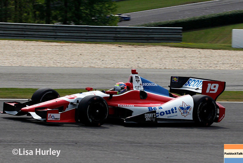 April 27: Justin Wilson during the Honda Indy Grand Prix of Alabama