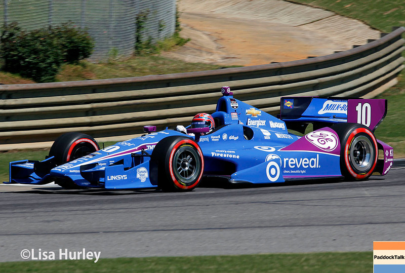 April 26: Tony Kanaan during qualifying for the Honda Indy Grand Prix of Alabama