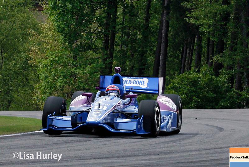 April 27: Tony Kanaan during the Honda Indy Grand Prix of Alabama
