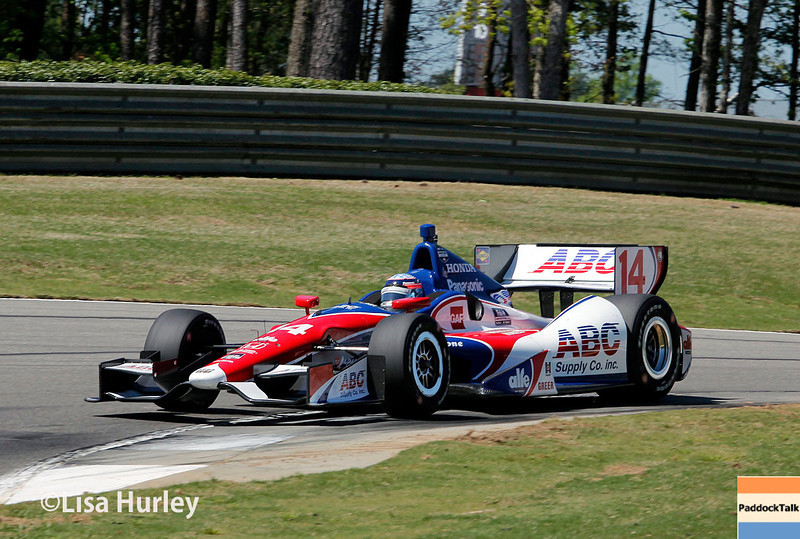 April 26: Takuma Sato during qualifying for the Honda Indy Grand Prix of Alabama
