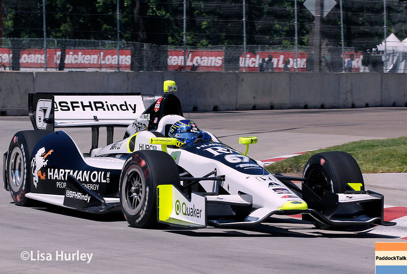 May 30: Josef Newgarden during practice for the Chevrolet Detroit Belle Isle Grand Prix.