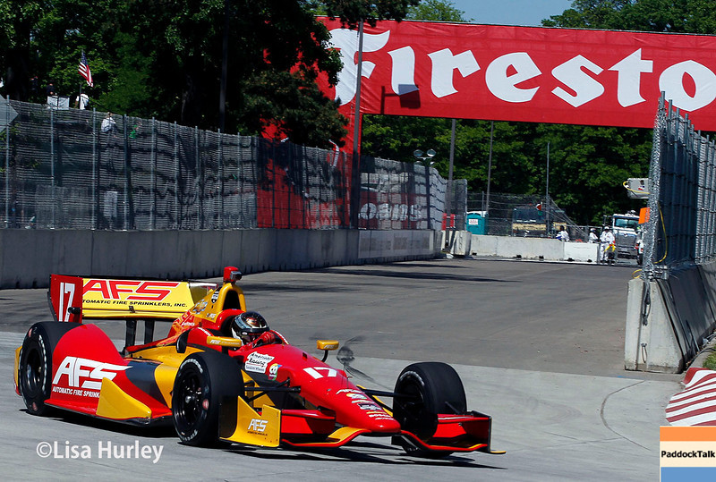 May 30: Sebastian Saavedra during practice for the Chevrolet Detroit Belle Isle Grand Prix.