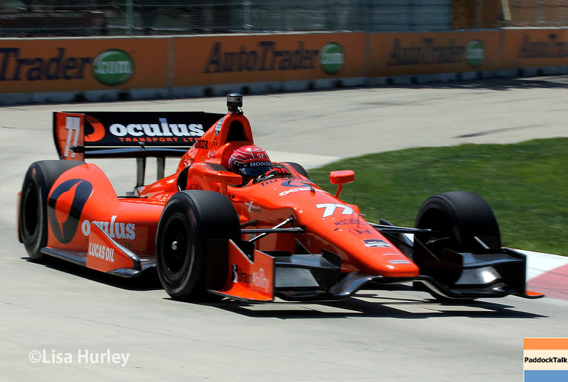 Simon Pagenaud and his No. 77 IndyCar was fastest on Friday during practice at Belle Isle.