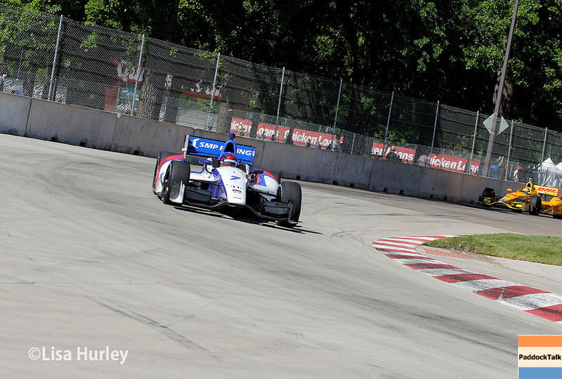 May 31: Mikhail Aleshin during Race 1 of the Chevrolet Detroit Belle Isle Grand Prix.