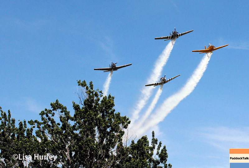 June 1: Flyover before Race 2 of the Chevrolet Detroit Belle Isle Grand Prix.