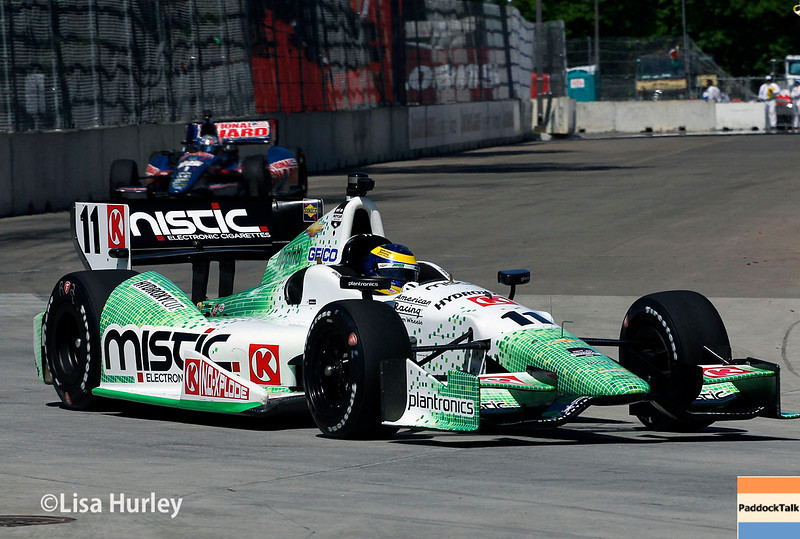 May 30: Sebastien Bourdais and Graham Rahal during practice for the Chevrolet Detroit Belle Isle Grand Prix.