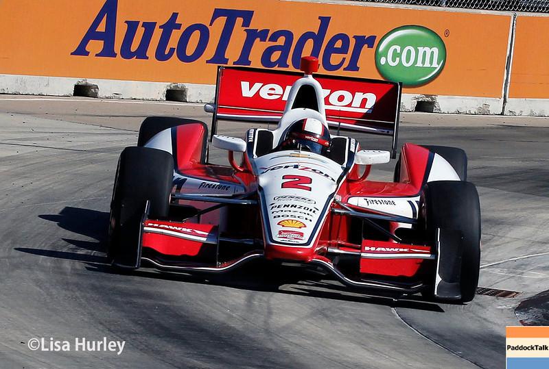 June 1: Juan Montoya during Race 2 of the Chevrolet Detroit Belle Isle Grand Prix.