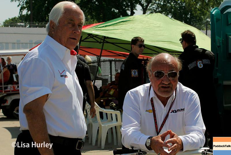 May 30: Roger Penske and Kevin Kalkhoven during practice for the Chevrolet Detroit Belle Isle Grand Prix.