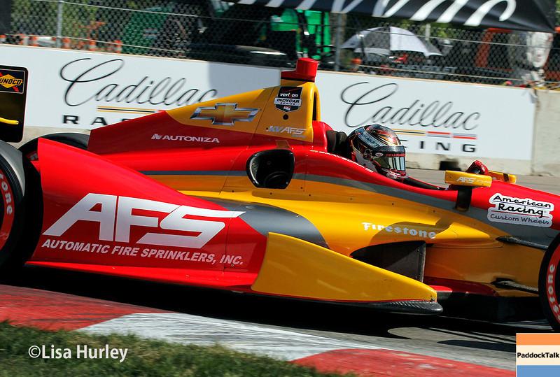 June 1: Sebastian Saavedra during qualifying for Race 2 of the Chevrolet Detroit Belle Isle Grand Prix.