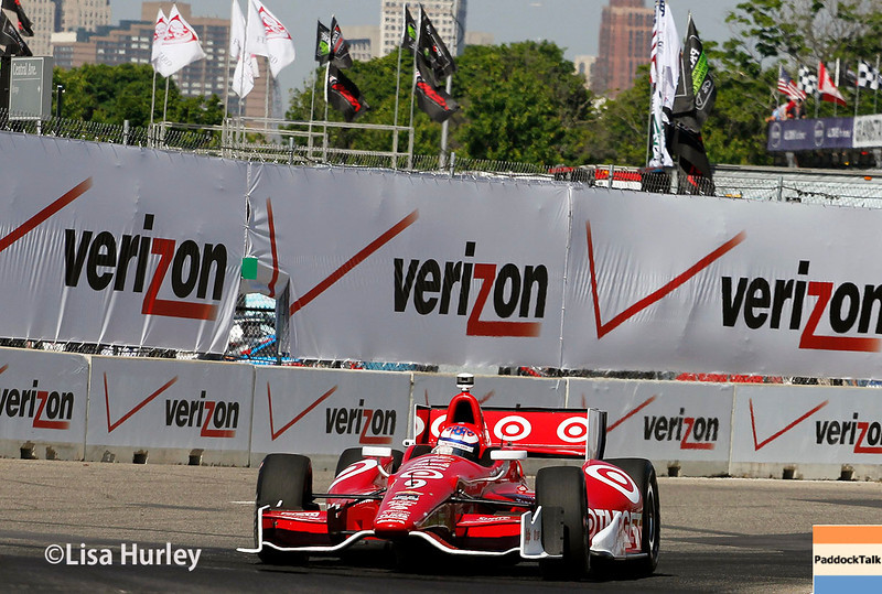 June 1: Scott Dixon during qualifying for Race 2 of the Chevrolet Detroit Belle Isle Grand Prix.