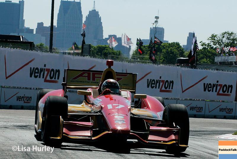May 31: Sebastian Saavedra during Race 1 of the Chevrolet Detroit Belle Isle Grand Prix.