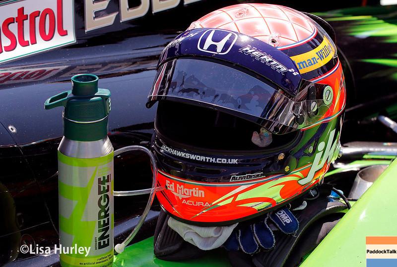 May 31: Jack Hawksworth's helmet before Race 1 of the Chevrolet Detroit Belle Isle Grand Prix.