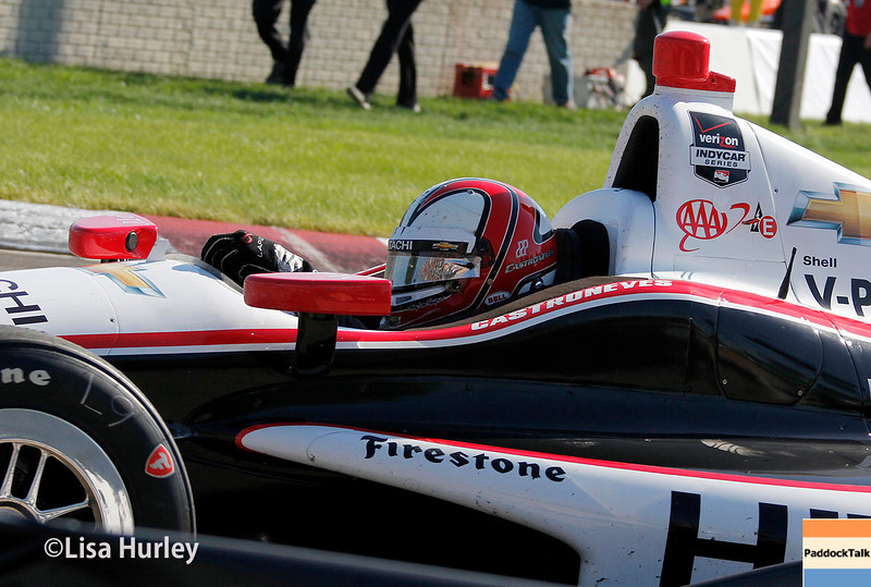 June 1: Helio Castroneves before Race 2 of the Chevrolet Detroit Belle Isle Grand Prix.
