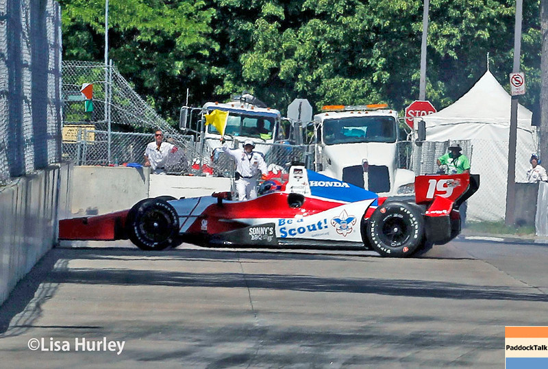 May 30: Justin Wilson during practice for the Chevrolet Detroit Belle Isle Grand Prix.