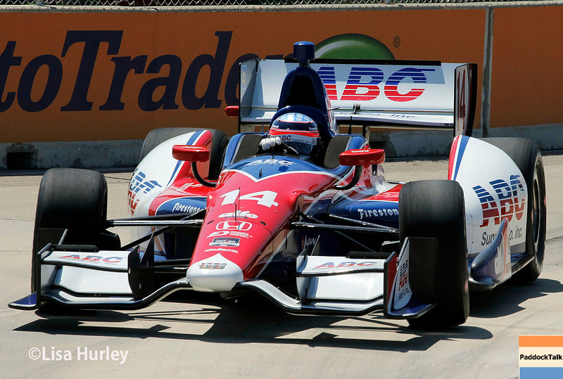 May 30: Takuma Sato during practice for the Chevrolet Detroit Belle Isle Grand Prix.