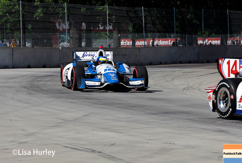 May 31: Carlos Huertas during Race 1 of the Chevrolet Detroit Belle Isle Grand Prix.