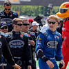 June 1: Josef Newgarden and team before Race 2 of the Chevrolet Detroit Belle Isle Grand Prix.