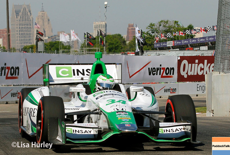 June 1: Carlos Munoz during qualifying for Race 2 of the Chevrolet Detroit Belle Isle Grand Prix.