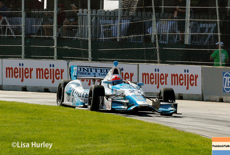 May 31: James Hinchcliffe during Race 1 of the Chevrolet Detroit Belle Isle Grand Prix.
