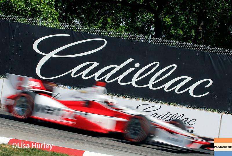 June 1: Juan Montoya during qualifying for Race 2 of the Chevrolet Detroit Belle Isle Grand Prix.