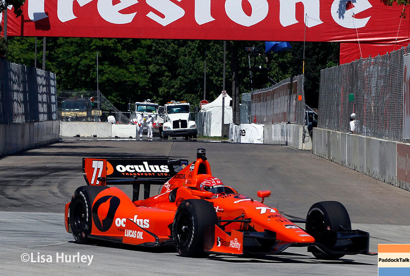 May 30: Simon Pagenaud during practice for the Chevrolet Detroit Belle Isle Grand Prix.