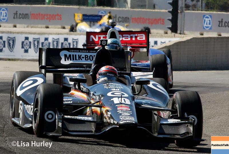June 1: Tony Kanaan during Race 2 of the Chevrolet Detroit Belle Isle Grand Prix.
