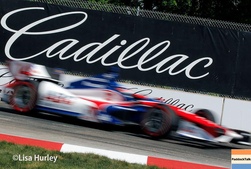 June 1: Takuma Sato during qualifying for Race 2 of the Chevrolet Detroit Belle Isle Grand Prix.