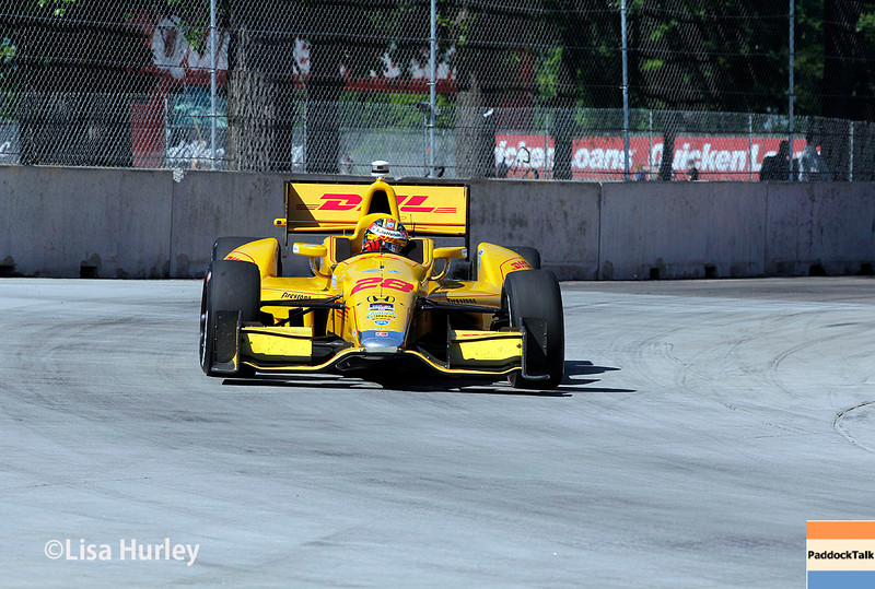 May 31: Ryan Hunter-Reay during Race 1 of the Chevrolet Detroit Belle Isle Grand Prix.