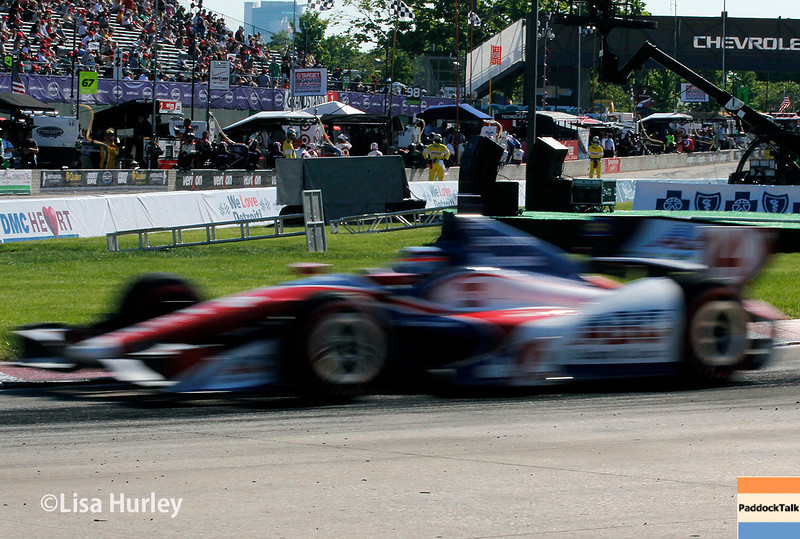 May 31: Takuma Sato during Race 1 of the Chevrolet Detroit Belle Isle Grand Prix.