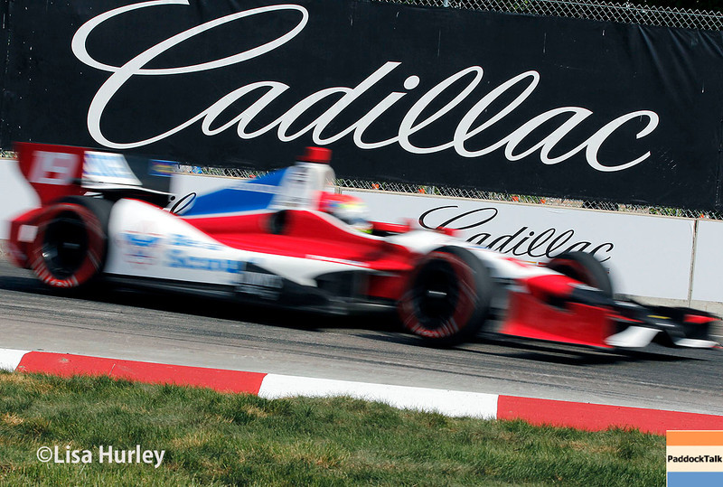 June 1: Justin Wilson during qualifying for Race 2 of the Chevrolet Detroit Belle Isle Grand Prix.