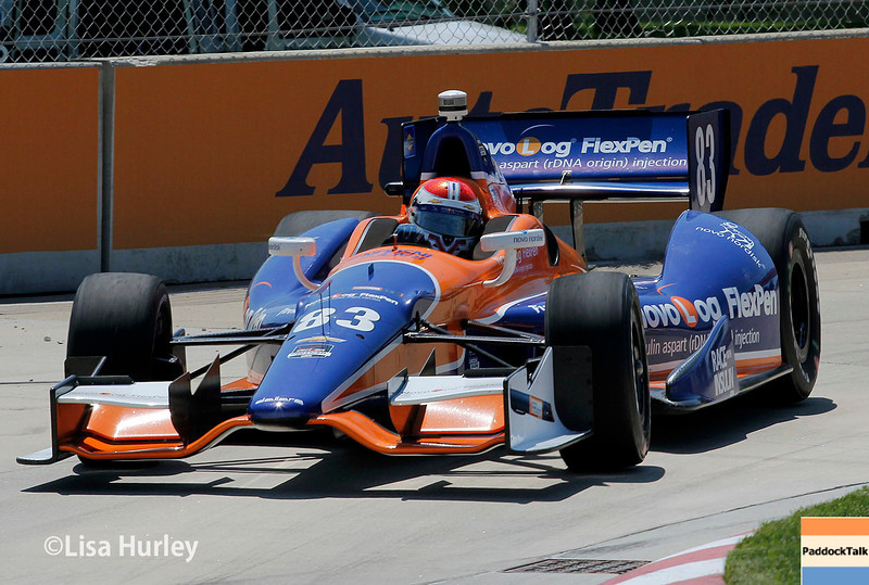 May 30: Charlie Kimball during practice for the Chevrolet Detroit Belle Isle Grand Prix.