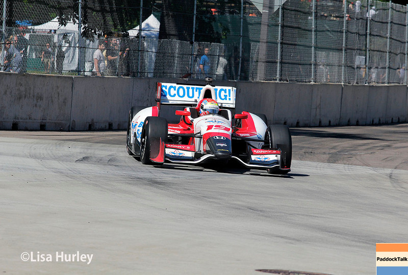 May 31: Justin Wilson during Race 1 of the Chevrolet Detroit Belle Isle Grand Prix.