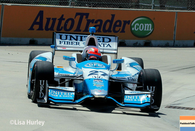 May 30: James Hinchcliffe during practice for the Chevrolet Detroit Belle Isle Grand Prix.