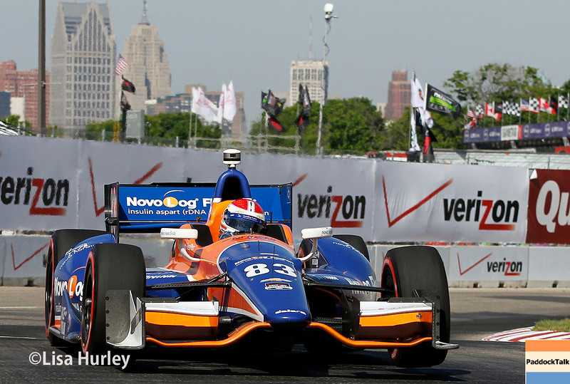 June 1: Charlie Kimball during qualifying for Race 2 of the Chevrolet Detroit Belle Isle Grand Prix.