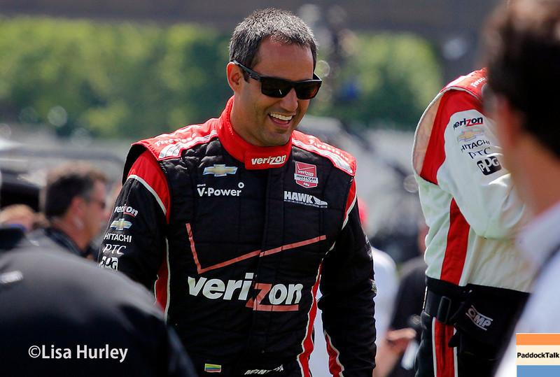 June 1: Juan Montoya before Race 2 of the Chevrolet Detroit Belle Isle Grand Prix.