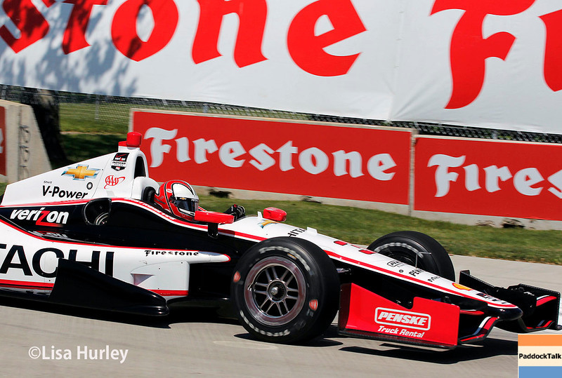 May 30: Helio Castroneves during practice for the Chevrolet Detroit Belle Isle Grand Prix.