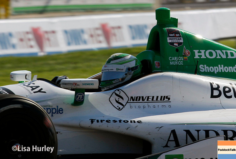 May 31: Carlos Munoz during Race 1 of the Chevrolet Detroit Belle Isle Grand Prix.