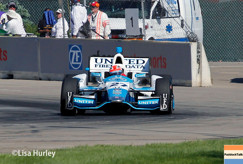 June 1: James Hinchcliffe during qualifying for Race 2 of the Chevrolet Detroit Belle Isle Grand Prix.