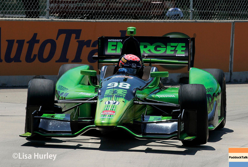 May 30: Jack Hawksworth during practice for the Chevrolet Detroit Belle Isle Grand Prix.